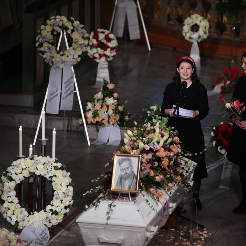 Ari Behn and Princess Martha Louise's daughter gives speech at his funeral