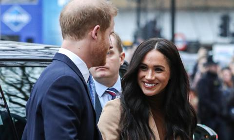 Meghan Markle and Prince Harry make first public appearance of new year