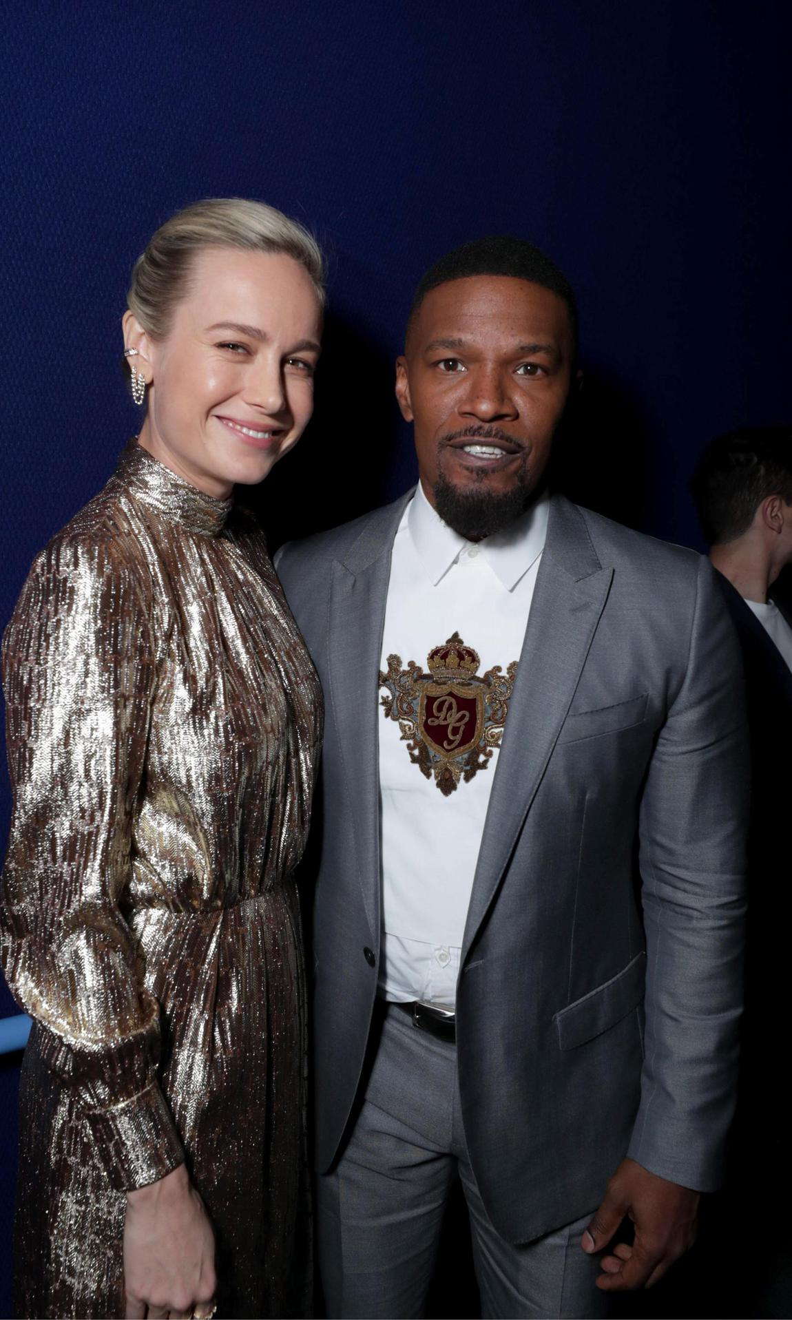 Brie Larson and Jamie Foxx