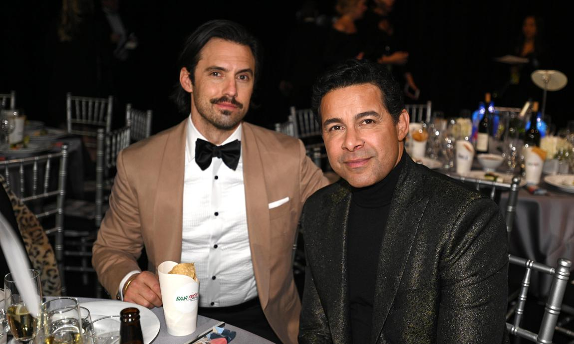 Milo Ventimiglia and Jon Huertas attend the Critics' Choice Awards 2020