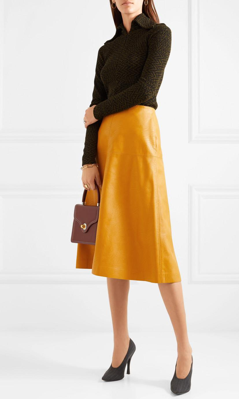 Faux Leather Midi Skirt de Stella McCartney