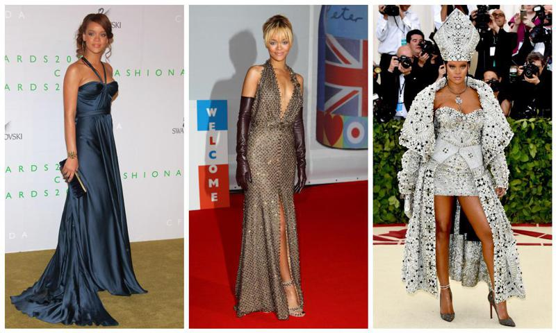 Rihanna con looks de red carpet