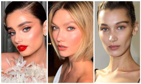 Bella Hadid brow laminatio