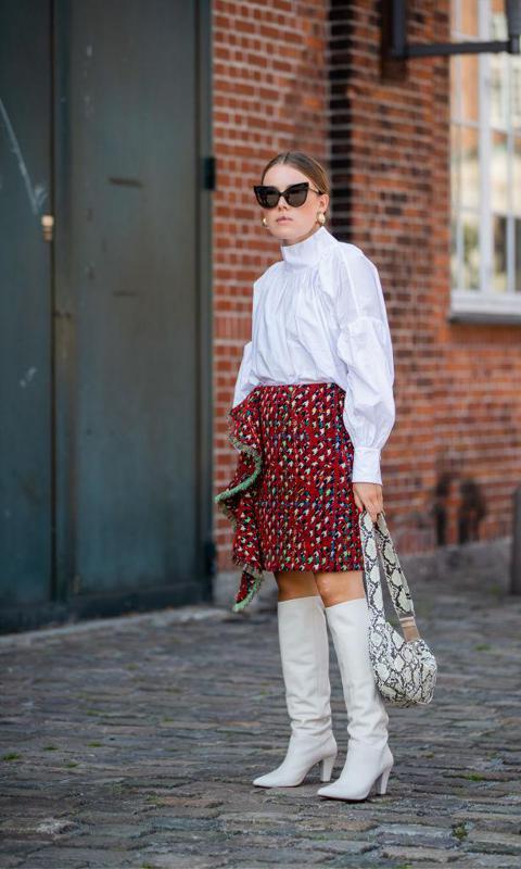 Botas blancas en la Fashion Week