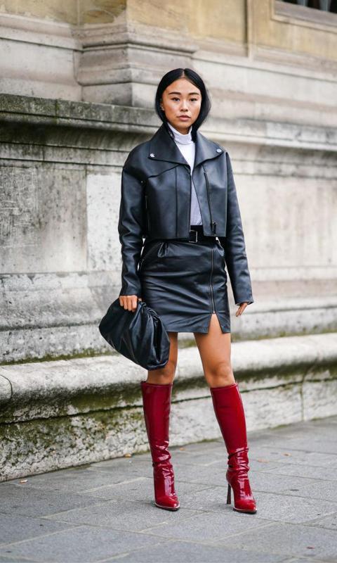 Botas rojas en la Fashion Week