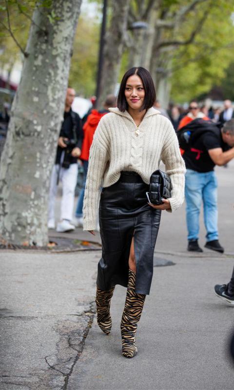Botas de cebra en la Fashion Week
