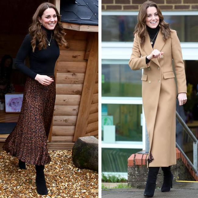 Collage Kate Middleton falda zara