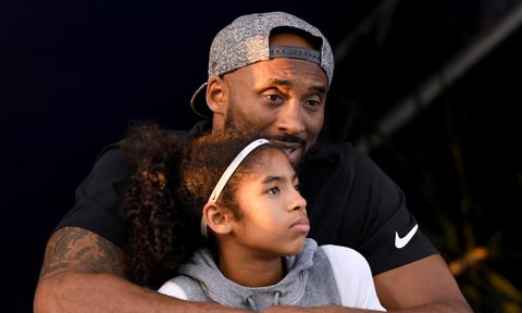 Kobe Bryant and daughter Gianna posing together