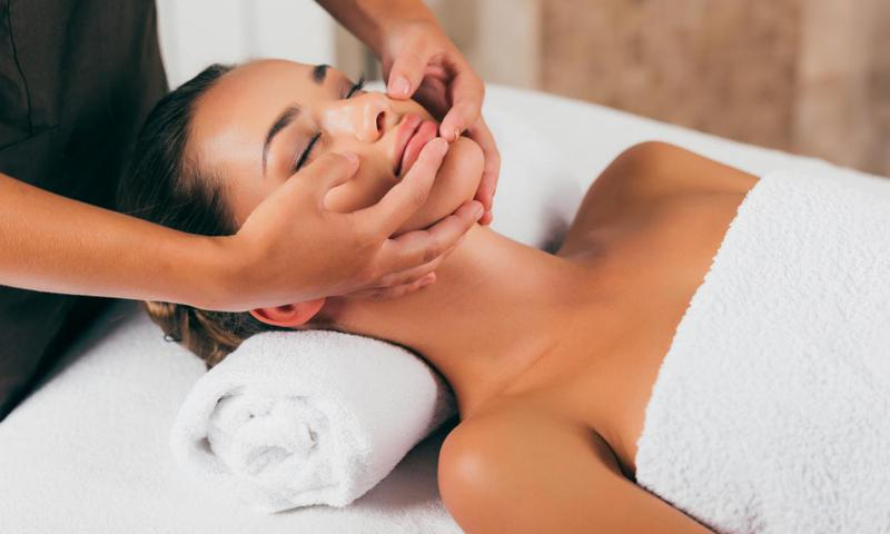You can go to a spa for facial massages