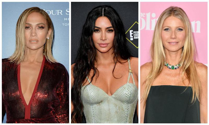Collage JLo, Kim Kardashian y Gwyneth Paltrow
