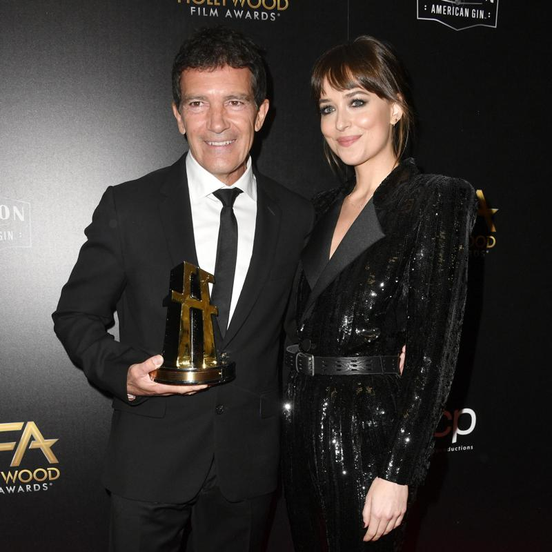Antonio Banderas and Dakota Johnson