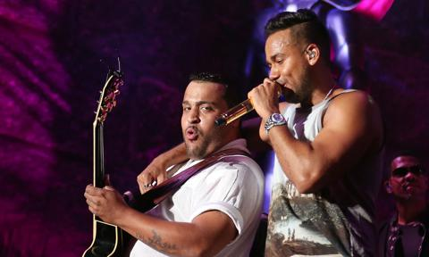 Lenny Santos and Romeo Santos of Aventura