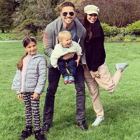 Eric Winter and Roselyn Sanchez family