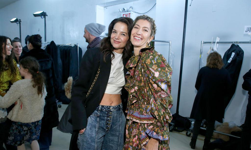 Katie Holmes attends Ulla Johnson NYFW show