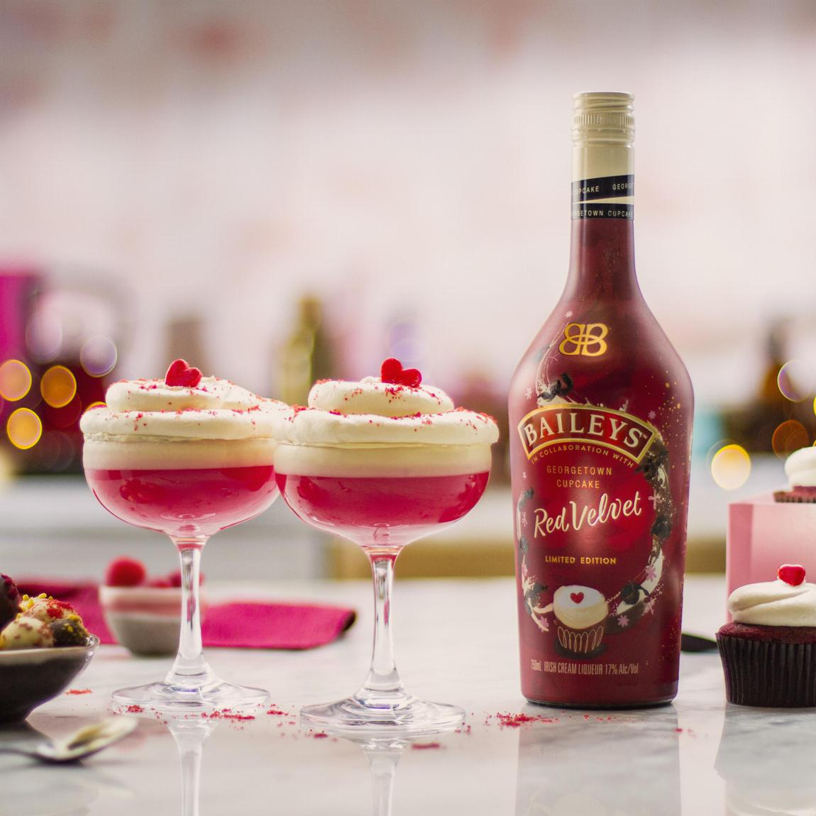 Baileys Red Velvet Cupcake Martini cocktail