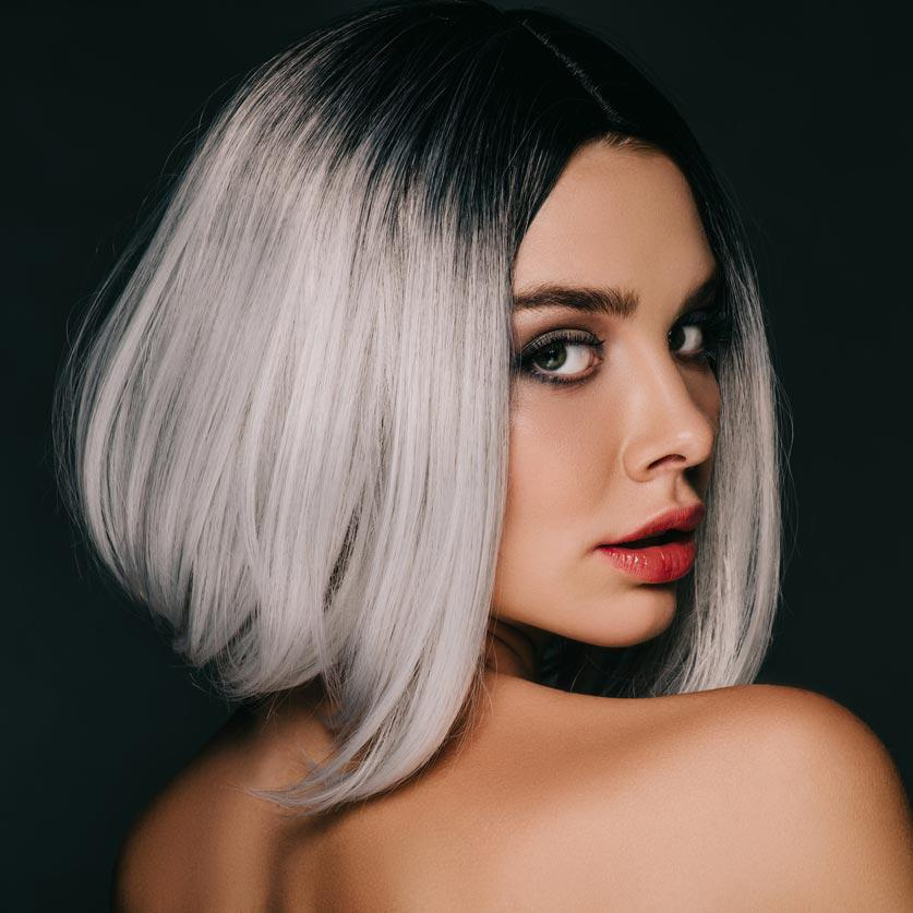 Mujer cabello gris