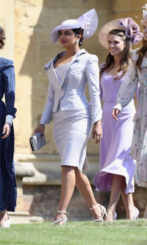 She went with a Vivienne Westwood suit for the royal wedding