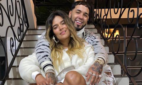 Karol G and Anuel AA romantic picture