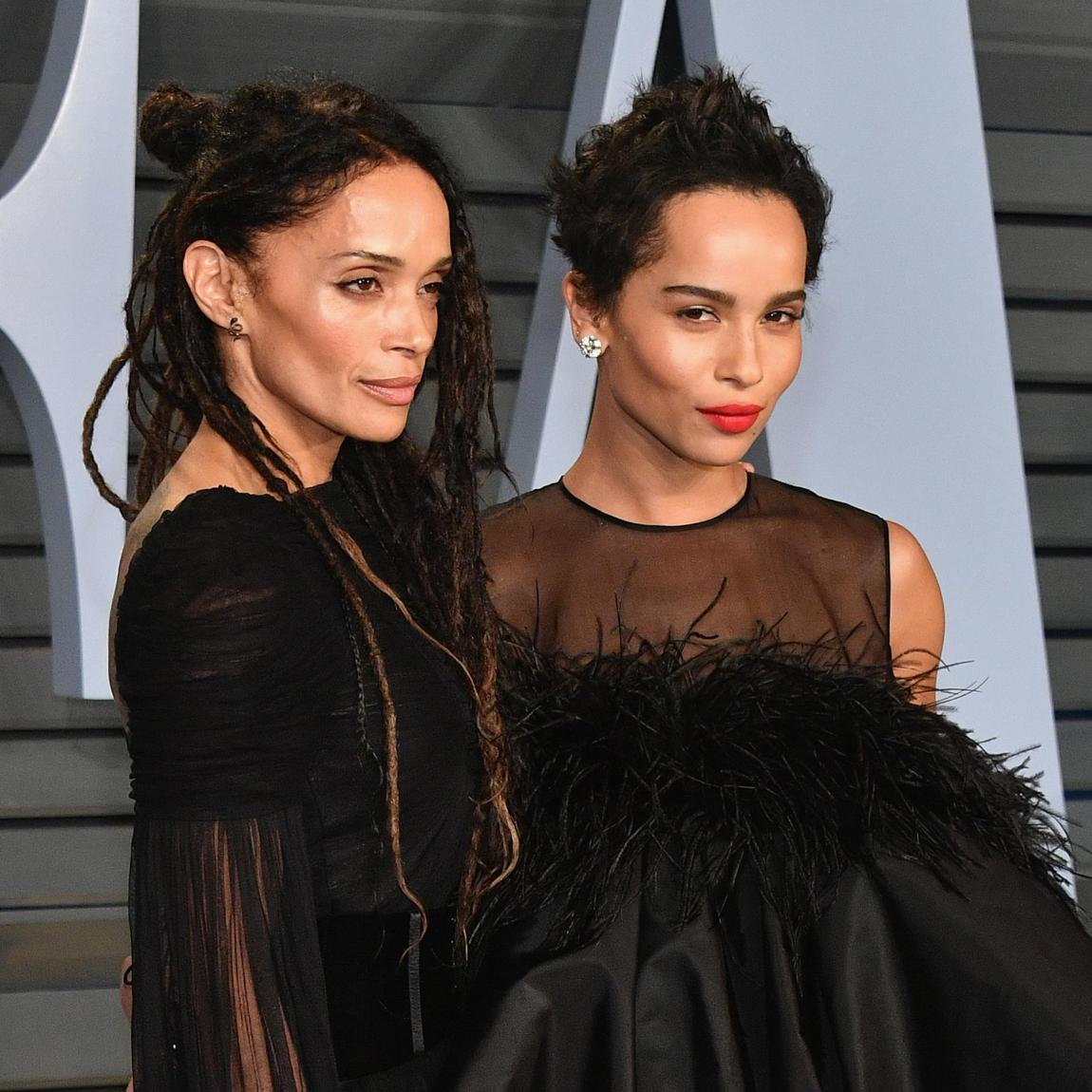 Zoe Kravitz and Lisa Bonet posing together