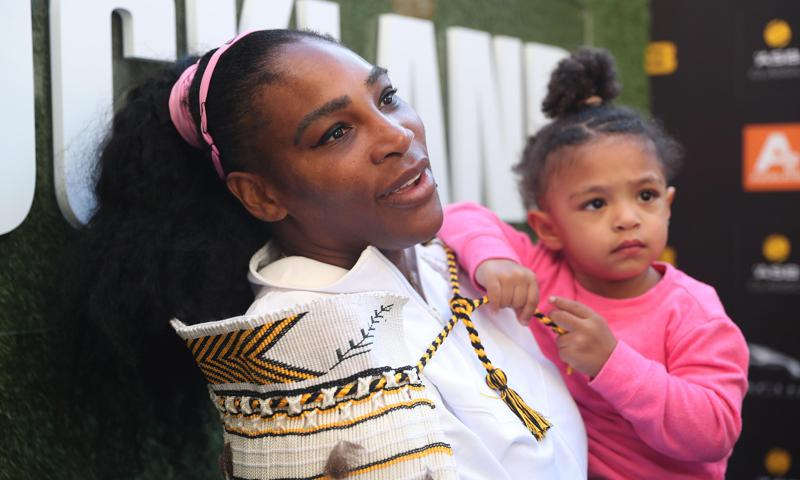 Serena Williams daughter Olympia cute baby shark outfit