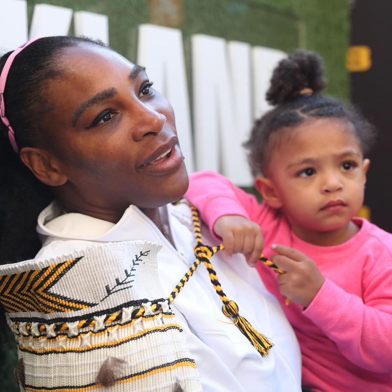 Serena Williams and daughter Alexis Olympia together