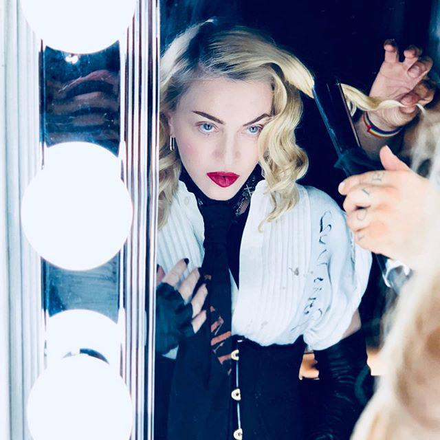 Madonna in the mirror