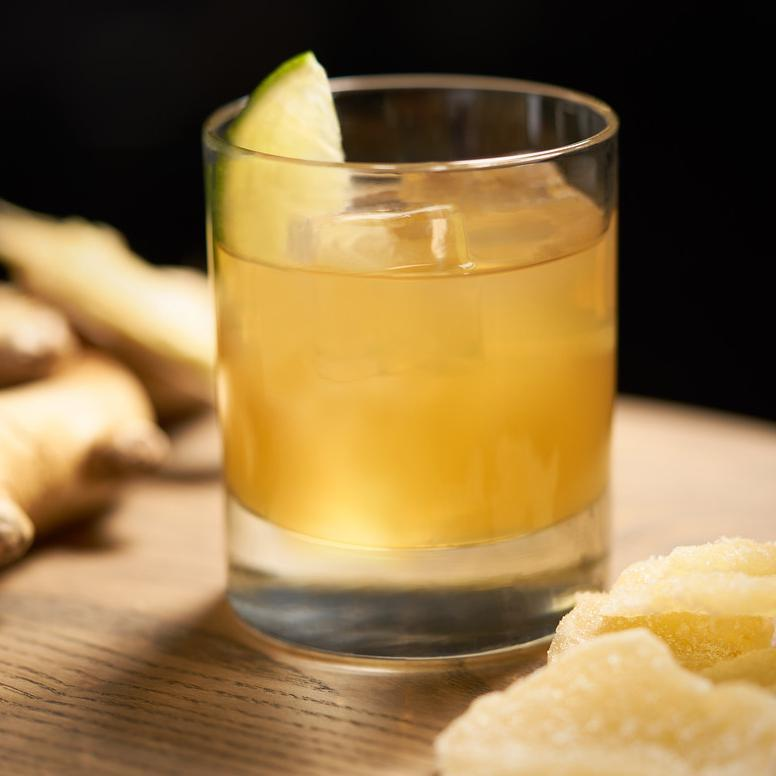 Hornitos® Black Barrel® Tequila Black and Ginger cocktail