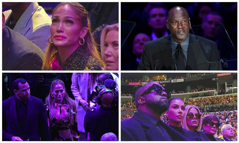 Jennifer Lopez cries at Kobe' Bryant's memorial and more stars who got emotional