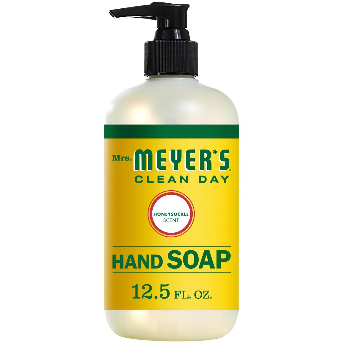 Mrs. Meyers Clean Day Liquid Hand Soap Bottle, Honeysuckle Scent