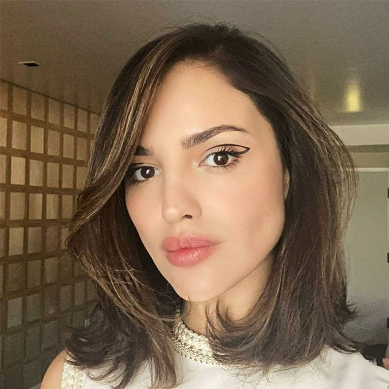 Eiza Gonzalez with the graphic eyeliner of the moment