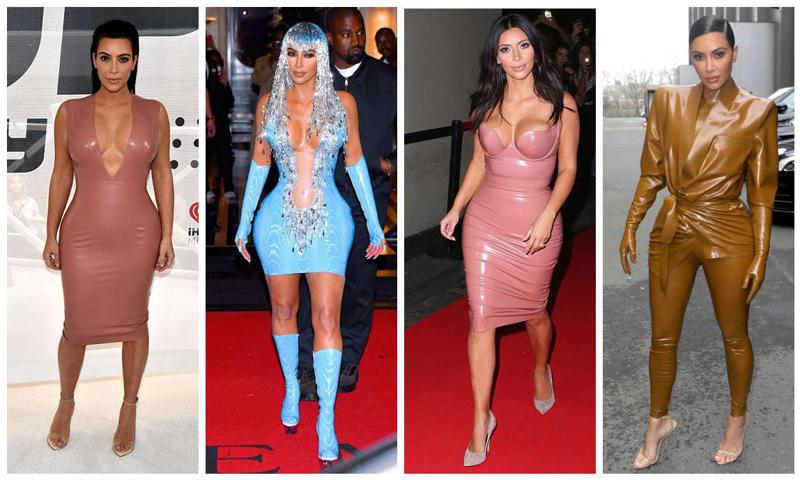 Kim Kardashian loves latex and is ahead of the fashion trends for spring/summer 2020
