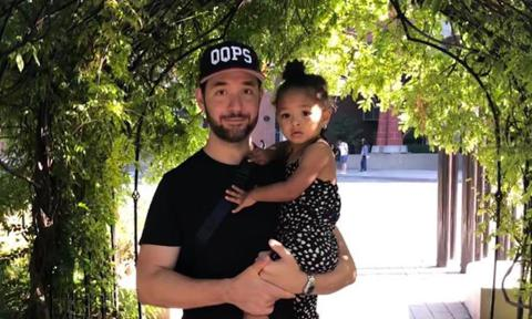 Serena Williams' husband Alexis Ohanian and daughter Olympia