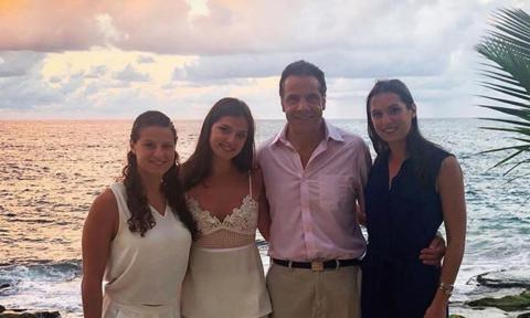 NY Governor Andrew Cuomo with his three daughters