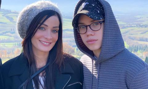 Dayanara Torres with sons Cristian and Ryan