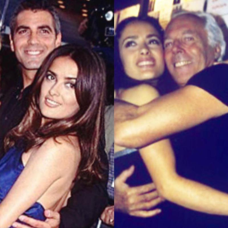 Salma Hayek posts old, old photo of herself with George Clooney Salma-hayek-and-george-clooney-throwback-picture