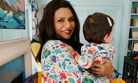 Mindy Kaling with her daughter