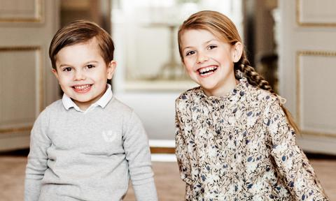 Sweden's Princess Estelle and Prince Oscar are cute as can bee in new photos