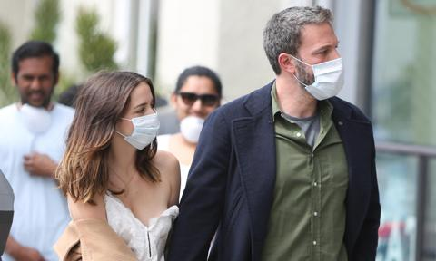 Ben Affleck and Ana de Armas are seen on April 18, 2020 in Los Angeles, California.