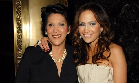 Jennifer Lopez and her mother