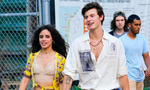 Camila Mendes and Shawn Mendes protest in Miami