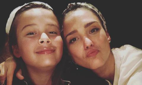 Jessica Alba shares a photo with her eldest daughter Honor