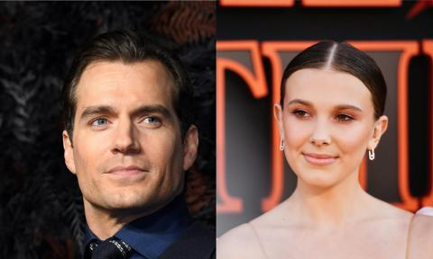 See Millie Bobby Brown, Henry Cavill in ENOLA HOLMES Images