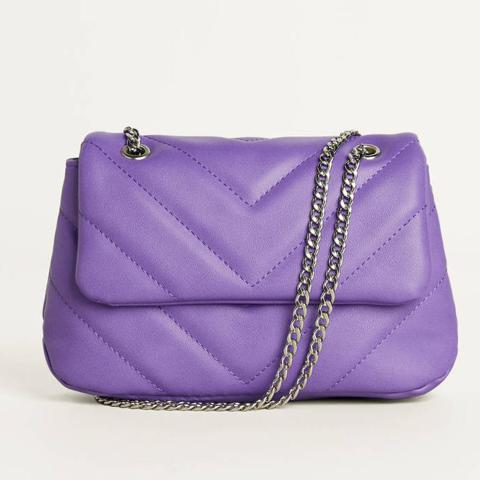 Quilted Handbag With Chain Detail from Bershka