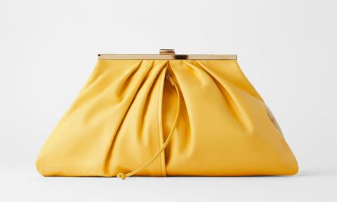 Soft Leather Frame Handbag from Zara
