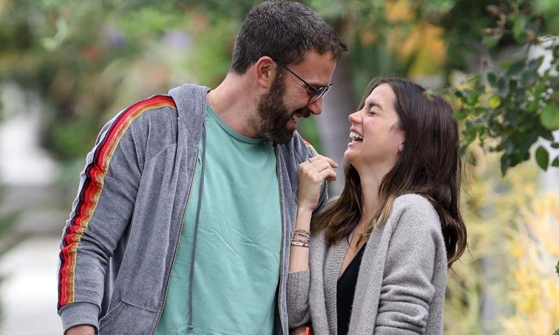 Ana de Armas catches case of the giggles while out with Ben Affleck
