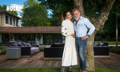 Gianluca Vacchi and Sharon Fonseca at their Bologna home