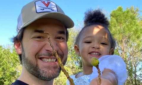 Alexis Ohanian with his daughter Olympia Ohanian who he shares with Serena Williams