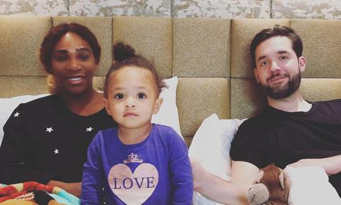 Serena Williams, her husband Alexis Ohanian and their daughter Olympia