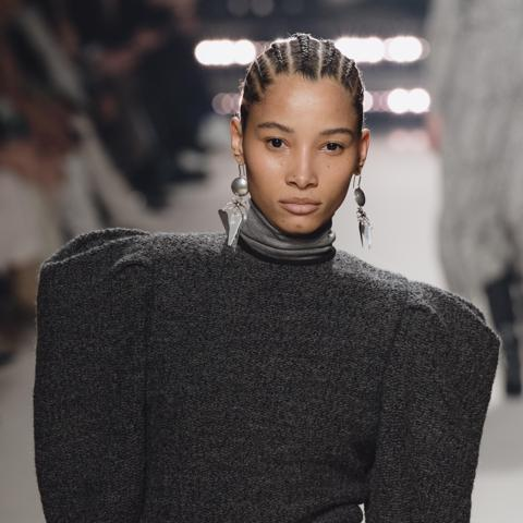 Lineisy Lineisy Montero walks the runway during the Isabel Marant show as part of Paris Fashion WeekMontero