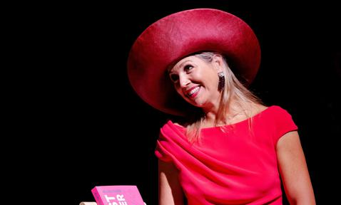 Queen Maxima during the opening of breast cancer month in the World Forum The Hague